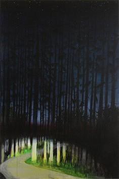 M.C. Wild, Late, 96x146 cm, acrylique sur toile, 2018