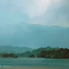 Patricia Maiocco, paysage 25 x 25 cm, acrylique