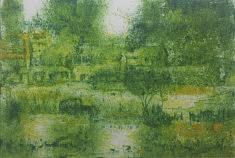 Frédéric Laviéville, Guimbarde, Monotype, 19,5 x 29,5 cm