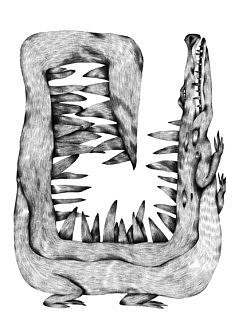 Nadia Zhelieznova, Alligator (graphite, 29,7 x 42 cm)