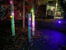 Florian Jouhaud, Autre nuit, installation lumineuse (photo Loïs Pommier)