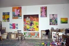 Vue de l'atelier de Bert Rückert (photo Bert Rückert)
