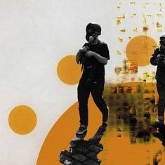 Exposition #1, Alain Cabot, Unexpected spaces 1, 2019, technique mixte sur toile, 100 x 100 cm