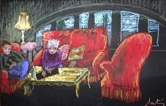 Constance Martiny Sondag, La Recyclerie, 2016, pastel gras, 52 x 32 cm