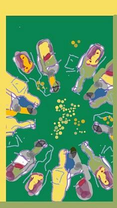 Luc Etivant, Ah le petit vin blanc, dessin sur smartphone, Dessin « au doigt » sur smartphone, 2018