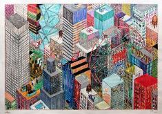 Marie-Catherine Wild, American dream, 65 x 45 cm, dessin sur papier millimétré, 2020