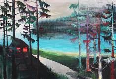 Marie-Catherine Wild, Les protégées,  90 x 60 cm, acrylique sur toile, 2019