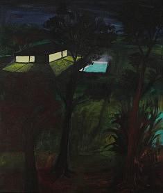 Marie-Catherine Wild, Maison secondaire, 46 x 55 cm, acrylique sur toile, 2020