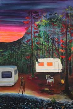 Marie-Catherine Wild, Soudain, 96 x 146 cm, acrylique sur toile, 2020