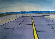 Olivier Furter, Leaving SF VIII, gouache sur papier, 100 x 70 cm, 2020