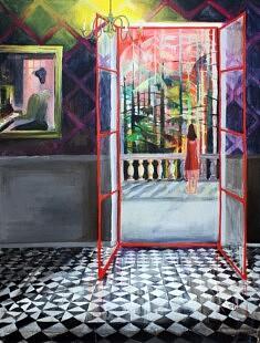 Marie-Catherine Wild, Mamy Mamie, 97 x 130 cm, acrylique sur toile, 2021