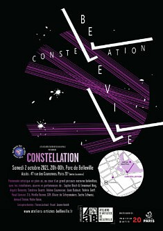 Affiche Constellation, Loïs Pommier, visuel Jeanne Varaldi