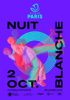 Affiche Nuit Blanche, Mairie de Paris,2021