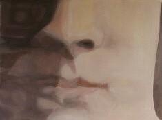 Olivier Furter, Face, Huile sur papier, 80 x 60 cm, 2021