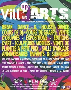Affiche Vill'Up En Arts, septembre 2021