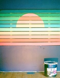 Le rayon vert - Acrylique sur table 150 x 88 cm