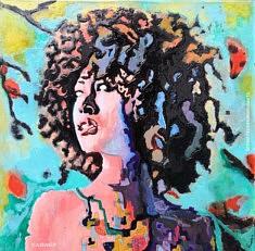 Afro, Francesco Romano Arts, Résine sur toile, 100x100 cm 2020, Paris
