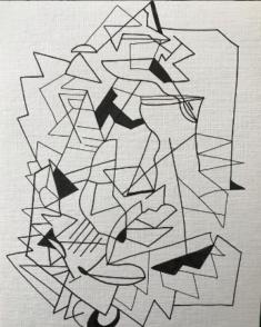 Marie Fanget, feutre sur papier, 15x21cm