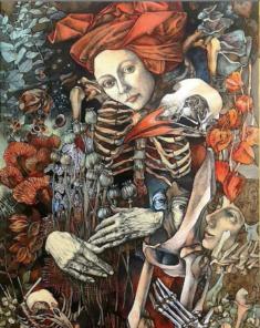 Olena Donichenko, Dernière, dessin, 40x60cm, papier, aquarelle, encre de chine