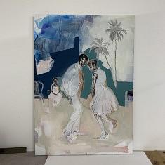 Eva Romain, Nuit de Noël, Acrylique sur toile, 92x60cm, 2020