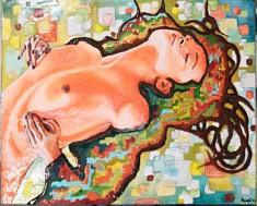 Francesco Romano, Energia mucha, Résine sur toile, 70x50 cm, 2021