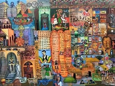 Getachew Behranu, Identity, huile sur toile, 80x60cm, 2019