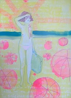 Lolaura, Baigneuse 1, 66x48cm, acrylique sur toile, 2020