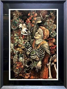 Olena Donichenko, Aquarelle, encre de chine, papier, 55x75cm, 2020
