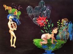 Séverine Hettinger, Germination 1, acrylique, 115x70cm
