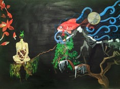 Séverine Hettinger, Germination 2, acrylique, 115x70cm