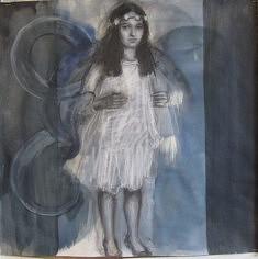 Odile DÉTRUIT, dessin 50x50 cm