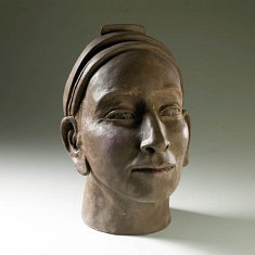 Pascale RAZAVET, INTÉRIORITÉ Terre cuite engobes et patines hauteur 40 cm.5 02