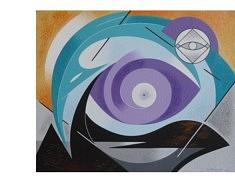 Obéline Flamand,  L'oeil de la sagesse, 2015 65X54cm Acrylique