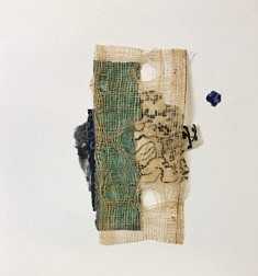 Anne Bartoli, Ruban de paille, 23x23 cm, collage