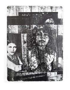 Laurent Bergstrasser, Jai la cicatrice haute, Eaux fortes et aquatintes, photogravure, 40 x 30 cm