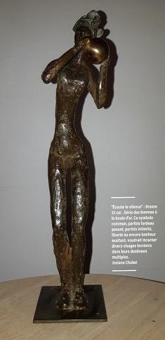 Josiane Chabel, Écoute le silence.bronze, 32cm