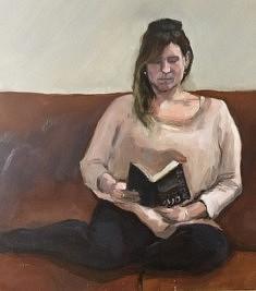 Alexis Gottlieb, La liseuse, 46 x 38 cm