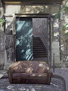 Jean-Christophe Adenis, Porte Ouverte, acrylique sur carton