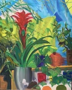 Vanessa Houeiss, peinture à l'huile, 50 x 60 cm