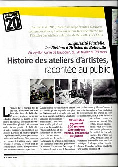 2014, Le Paris du 20e