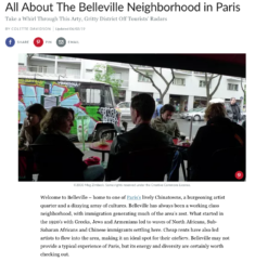 (Français) 2019, About All About The Belleville Neighborhood in Paris