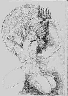 dessin, crayon, format raisin, 2018