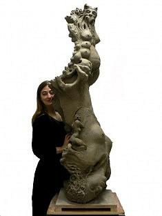 Rêve à l'envers, 2009, H : 170 cm