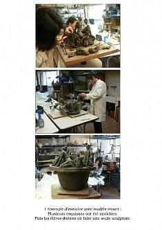 Cours de sculpture-modelage et cours de céramique