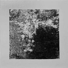 Série Empreintes EM9 - Cristaux, technique mixte sur toile, 40x40x10cm, 2020