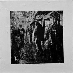 Série Empreintes EM6 - Les ombres, technique mixte sur toile, 40x40cm, 2020