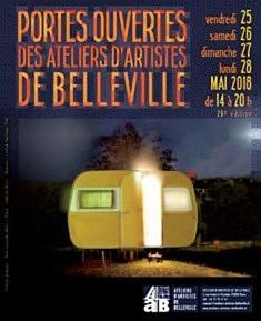 Portes ouvertes des ateliers d'artiste de Belleville 2018 - 29e édition : « Terres inconnues » 25 - 26 - 27 et 28 mai 2018