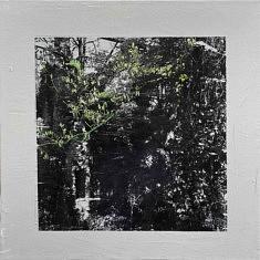 Série Empreintes EM3 - Moulin végétal, technique mixte sur toile, 40x40x10cm, 2020