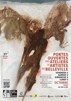 Exposition Octobre 2020 Les ateliers d'artistes de Belleville Portes ouvertes Alain Cabot