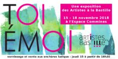 Toi Emoi à l'Espace Commines, 17 rue des Commines 75003 PARIS du jeudi 15 au dimanche 18 novembre 2018 vernissage :  15 novembre de 18h à 22h